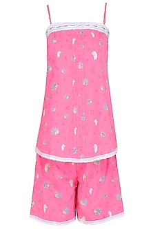 Pink Porcupine Printed Camisole and Shorts Set