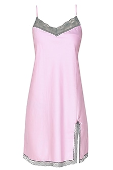 Pink and grey camisole night wear dress by Dandelion