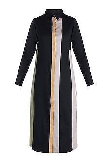 Jet black shirt dress by DOOR OF MAAI