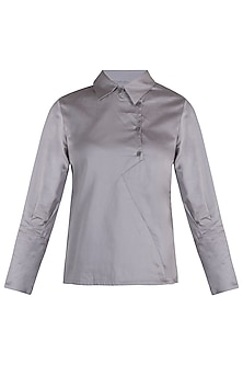 Ash grey full sleeves top