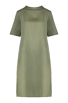Military green mini dress