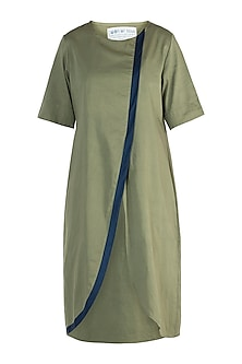 Military green tunic dress