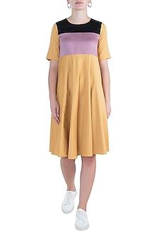 Canary yellow maxi dress by DOOR OF MAAI