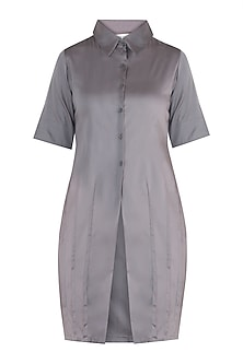 Ash grey straight fit tunic dress