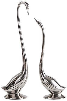 Nickel Finish Swan Decor by Sammsara