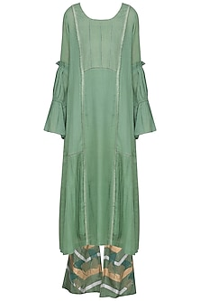 Sage Green Embroidered Kurta Set