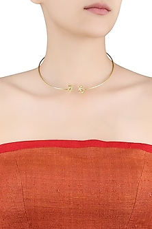 Gold Plated Warriors and Crusaders Necklace by Eina Ahluwalia