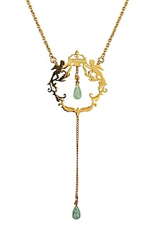 Gold Plated Army of Angels Necklace by Eina Ahluwalia