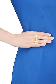 Gold Plated We Only Have Now Ring by Eina Ahluwalia