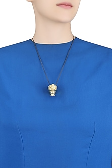 Gold Plated Memento Mori Necklace