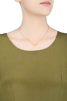 Gold Plated Infinite Love Necklace by Eina Ahluwalia