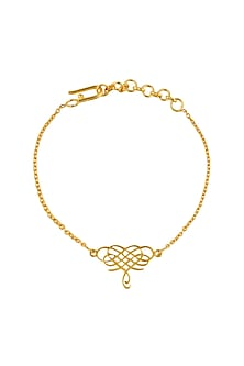 Gold Plated Infinite Love Bracelet by Eina Ahluwalia