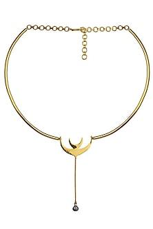 Gold Plated Hope Choker by Eina Ahluwalia