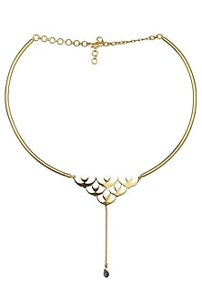 Gold Plated Triumph of Peace Choker by Eina Ahluwalia