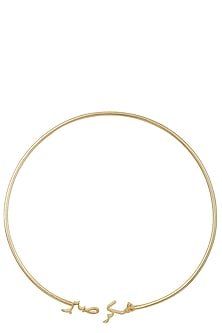 Rose Gold Plated Sabr Shukr Necklace by Eina Ahluwalia