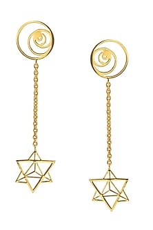 Sacred Geometry Drop Earrings by Eina Ahluwalia