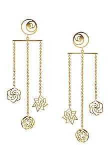 Sacred Geometry Chandelier Earrings by Eina Ahluwalia