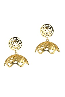 Lotus Fractal Mini Jhumki Earrings by Eina Ahluwalia