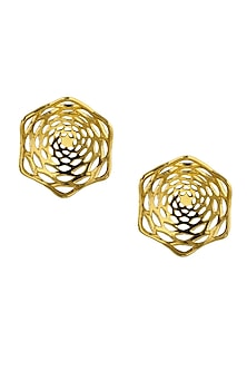 Lotus Fractal Stud Earrings by Eina Ahluwalia
