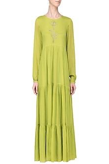 Lime Layered Maxi Dress by Ease