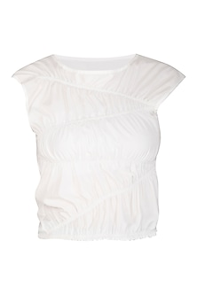 White Ruched Top by Echo
