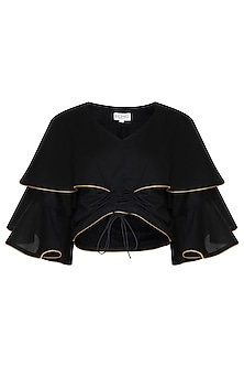 Black Layered Butterfly Top by Echo