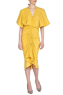 Yellow Tie-Up Dress by Echo