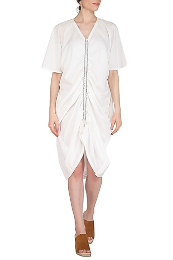 White Tie-Up Dress by Echo
