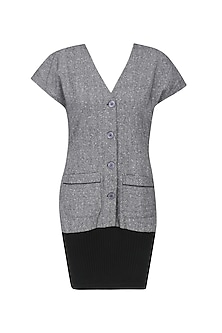 Grey and Black Winter Dress by Echo