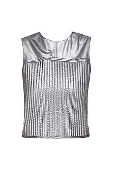 Silver Gunmetal Vest