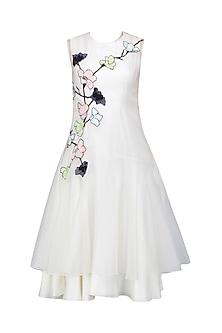 White Gastby Glasshouse Chadi Dress by Eshaani Jayaswal
