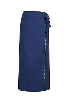 Blue Wrap Around Skirt Set