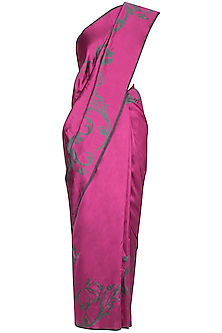 Pink Handwoven Silk Saree by Ekaya