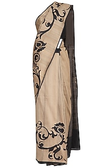 Light Brown Handwoven Banarasi Saree by Ekaya