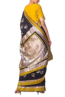 Black Handwoven Saree Set by Ekaya X Masaba