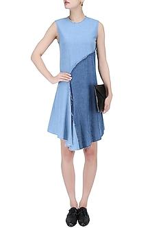 Two Tone Drape Dress by Kanelle