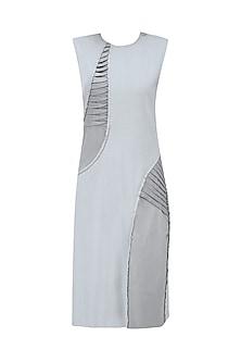 Light Grey Pleat Stream Dress by Kanelle