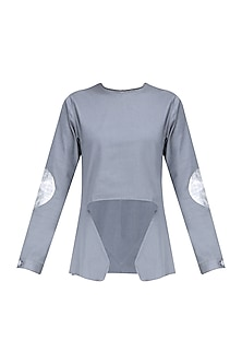 Grey Slash Cut Out Top by Kanelle