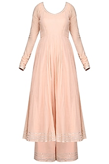 Baby Pink Anarkali with Pants