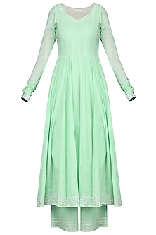 Mint Green Gota Embroidered Anarkali Set