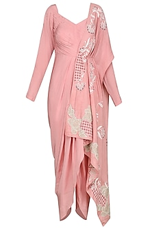 Dusty Pink Criss Cross Dhoti Jumpsuit