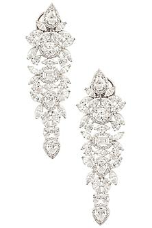 Silver Swarovski Crystal Earrings by Essense