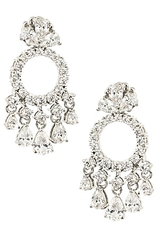Silver Swarovski Crystal Earrings by Essense