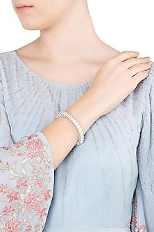Silver Swarovski Studded Bracelet