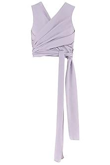 Lilac Wrap Around Top