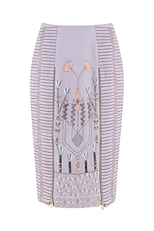 Lilac Embroidered Skirt by Esse