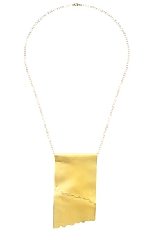 Gold finish Torn Necklace by Eurumme Jewellery