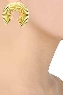 Gold finish Orient Earrings by Eurumme Jewellery