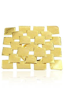 Gold finish Chessboard Ring by Eurumme Jewellery