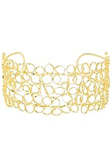 Gold finish Mesh Choker by Eurumme Jewellery